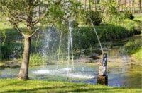 Kistapolca-borbála-szobor a tóban
